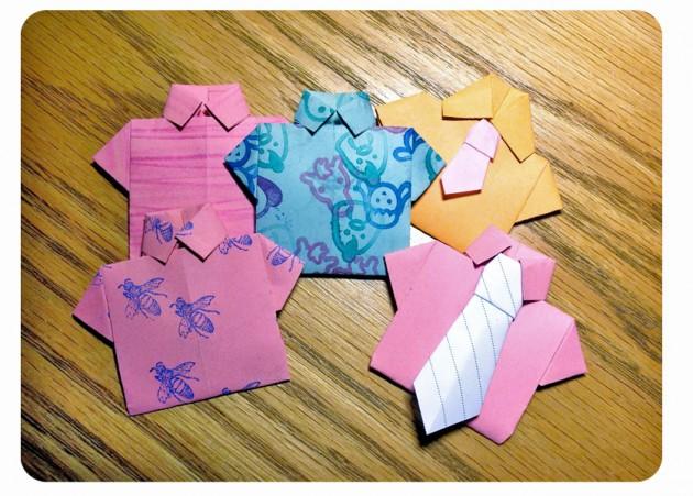 camisas origami