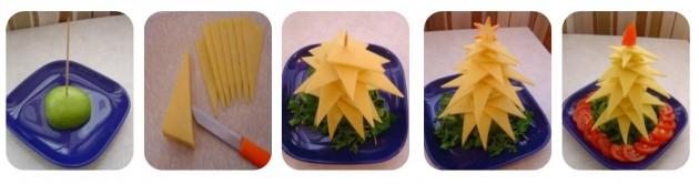 arvore natal queijo