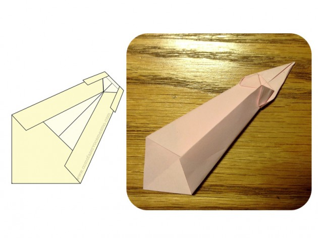 origami gravata 6